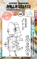 AALL & Create - Clear Stamp A7 size - Set #90 Ettan