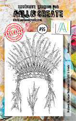 AALL & Create - Clear Stamp A7 size - Set #95 Headress