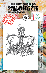 AALL & Create - Clear Stamp A7 size - Set #96 Crowning Glory