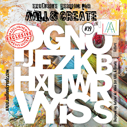 AALL & Create - Plastic Stencil - #29 Letters
