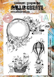 AALL & Create - Clear Stamp A4 size - Set #319 Magnify It
