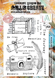AALL & Create - Clear Stamp A4 size - Set #321 Enjoy the Journey