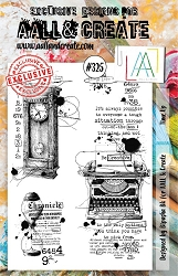 AALL & Create - Clear Stamp A5 size - Set #325 Time Up
