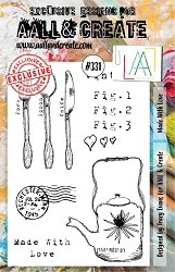 AALL & Create - Clear Stamp A5 size - Set #331 Made with Love