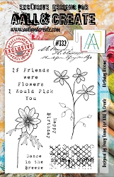 AALL & Create - Clear Stamp A5 size - Set #332 Birthday Blooms