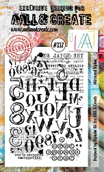 AALL & Create - Clear Stamp A6 size - Set #337 Mirrored Alphas