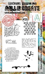 AALL & Create - Clear Stamp A6 size - Set #338 Background Noise