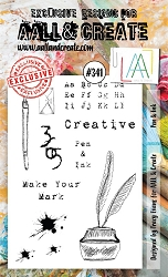 AALL & Create - Clear Stamp A6 size - Set #341 Pen & Ink