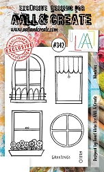 AALL & Create - Clear Stamp A6 size - Set #342 Windows