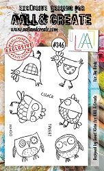 AALL & Create - Clear Stamp A6 size - Set #346 For the Birds