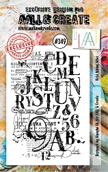 AALL & Create - Clear Stamp A7 size - Set #349 Bold Alphas Mini