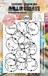 AALL & Create - Clear Stamp A7 size - Set #352 Circled Numbers