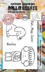 AALL & Create - Clear Stamp A7 size - Set #355 Eat Play Love