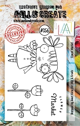AALL & Create - Clear Stamp A7 size - Set #356 Flower Market