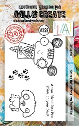 AALL & Create - Clear Stamp A7 size - Set #358 Paw Prints