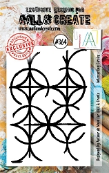AALL & Create - Clear Stamp A7 size - Set #364 Interesting Circles