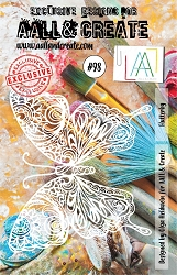 AALL & Create - A5 Stencil #98 Flutterby
