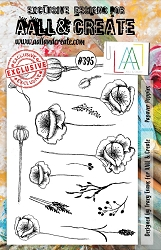 AALL & Create - Clear Stamp A5 size - Set #395 Papaver Poppies
