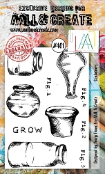 AALL & Create - Clear Stamp A6 size - Set #401 Containers