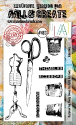 AALL & Create - Clear Stamp A6 size - Set #403 Tailoring