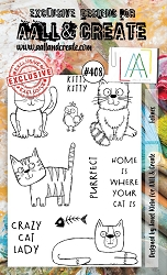 AALL & Create - Clear Stamp A6 size - Set #408 Felines