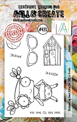 AALL & Create - Clear Stamp A7 size - Set #423 Seaside