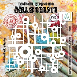 AALL & Create - Plastic Stencil - #100 Nodes (6