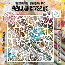 AALL & Create - Plastic Stencil - #104 Neurons (6