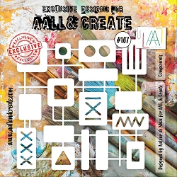 AALL & Create - Plastic Stencil - #107 Components (6