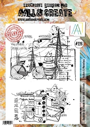 AALL & Create - Clear Stamp A4 size - Set #228 Postbox & Phonelines