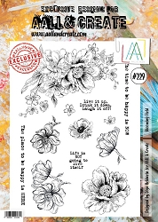 AALL & Create - Clear Stamp A4 size - Set #229 Blooming Field