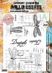AALL & Create - Clear Stamp A4 size - Set #230 On Dragonfly Wings