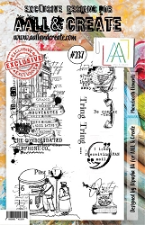 AALL & Create - Clear Stamp A5 size - Set #237 Phonebooth Elements
