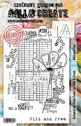 AALL & Create - Clear Stamp A5 size - Set #238 Wild and Free