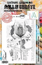 AALL & Create - Clear Stamp A5 size - Set #239 Teasel