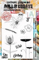 AALL & Create - Clear Stamp A5 size - Set #240 Blossom Wishes