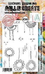 AALL & Create - Clear Stamp A6 size - Set #244 Flowerheads