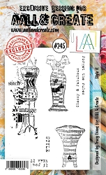 AALL & Create - Clear Stamp A6 size - Set #245 Style It