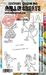 AALL & Create - Clear Stamp A6 size - Set #246 Monkey Business