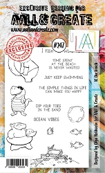 AALL & Create - Clear Stamp A6 size - Set #247 At the Beach