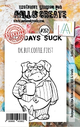 AALL & Create - Clear Stamp A7 size - Set #252 Coffee First