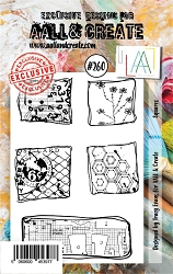 AALL & Create - Clear Stamp A7 size - Set #260 Squares