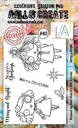AALL & Create - Clear Stamp A6 size - Set #413 Merry & Bright