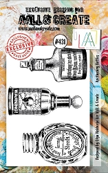 AALL & Create - Clear Stamp A7 size - Set #431 Apothecary Bottles