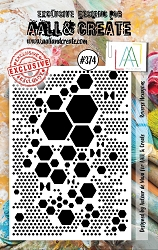 AALL & Create - Clear Stamp A7 size - Set #374 Reverse Hexagons