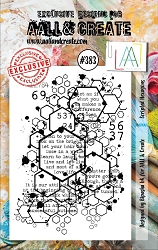 AALL & Create - Clear Stamp A7 size - Set #383 Scripted Hexagons