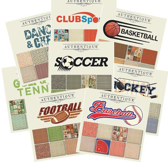 Authentique - All Star sports themed 6x6 paper pads