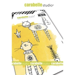 Carabelle Studio - Cling Stamp - Here Kitty Kitty