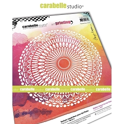 Carabelle Studio - Round Unmounted Art Printing Stamp - Stained Glass Circle