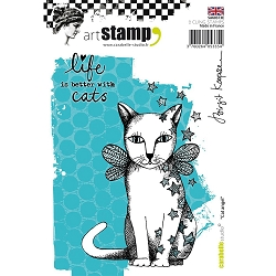 Carabelle Studio - Cling Stamp Set - Cat Angel